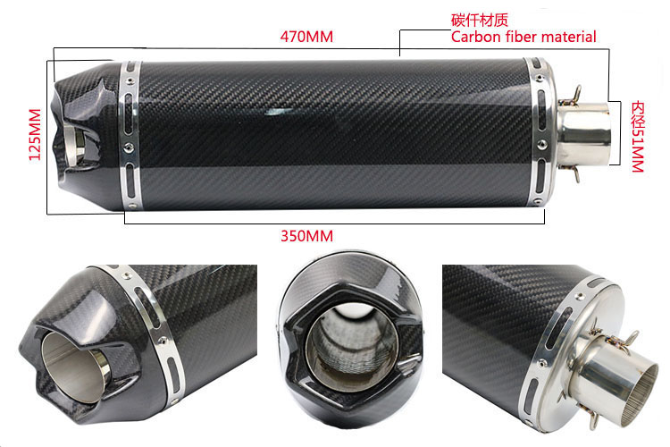 Good quantity ID:51MM motorcycle exhuast motorbike Scooter muffler silencer Modified escape exhaust pipe fit for most motorcycle