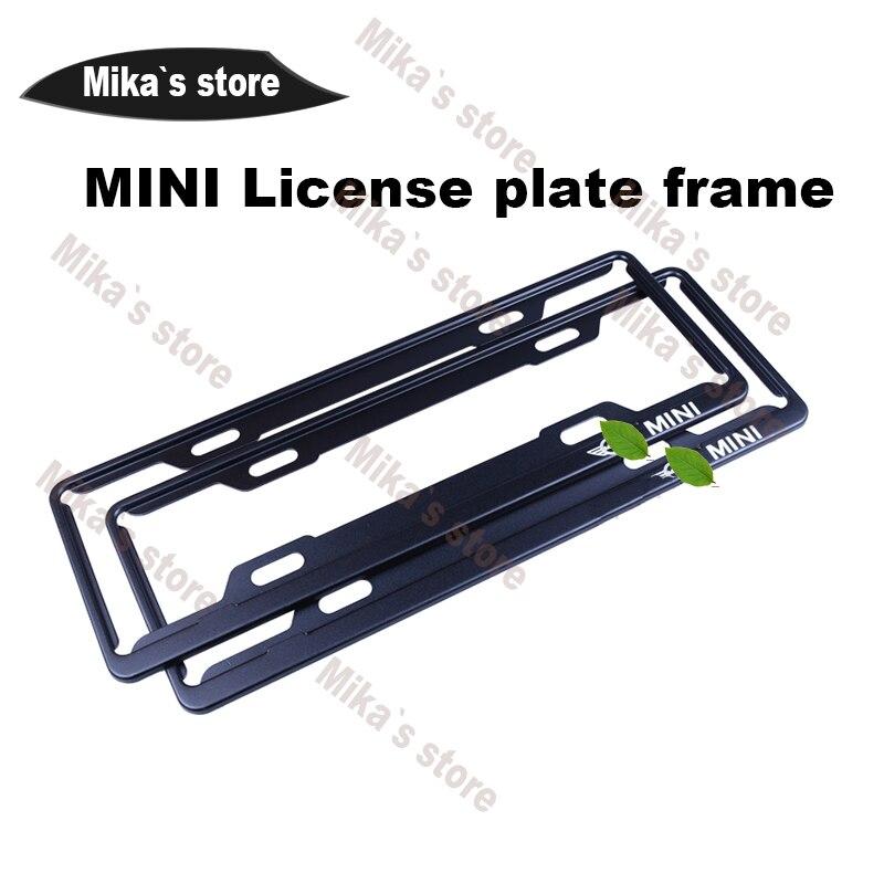 New Aluminum alloy License plate frame for mini cooper F55 F56 F60 ...