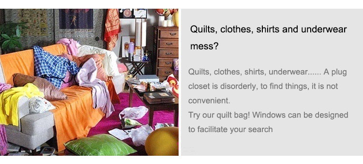2018 new Non-woven Portable Clothes Storage Bag Organizer 45.5*51*29cm Folding Closet Organizer For Pillow Quilt Blanket Bedding 10