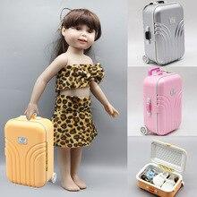 2019 модный кукольный чемодан, подходит для 43 см, американская девочка, кукла, 18 дюймов, куклы, Дорожный чемодан, детские куклы, аксессуары, Бесплатная доставка