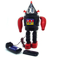 [Funny] Adult Collection Retro Wind up toy Metal Tin electronic galaxy robot alien Clockwork toy figures model vintage toy gift
