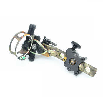 """5 pins .019\"""" Bow Sight with Micro Adjust Detachable Bracket, Sight Light - Black for compound bow archery"""