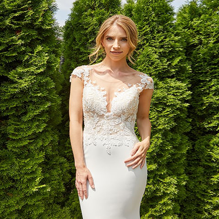 LORIE 2019 Mermaid Wedding Dress Sexy Backless O Neck Sleeveless Lace Stain Wedding Gown Bridal Gowns White Ivory Dress in Wedding Dresses from Weddings Events