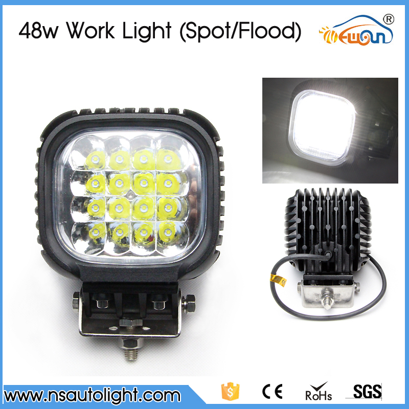 Car accessories flood lighting led work light waterproof ip68 led light headlight 48w for 4WD,SUV, UTV off road vehicles 30% off 2pcs ultrathin led flood light 50w black ac85 265v waterproof ip66 floodlight spotlight outdoor lighting free shipping