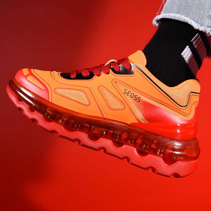 Nuevos zapatos deportivos transpirables amortiguación zapatillas para correr para hombres mujeres entrenamiento atlético al aire libre Jogging gimnasio zapatillas tamaño 36-45
