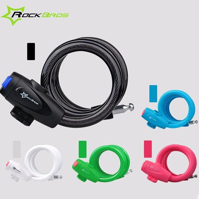 ROCKBROS MTB Road Bicycle Code Key Lock Multicolor Anti theft ...