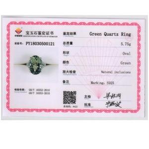 Image 5 - גדול ירוק אמטיסט טבעת טבעי חן טבעת 925 כסף סטרלינג תכשיטים עבור בנות נחמד שחור שישי & חג המולד מתנה