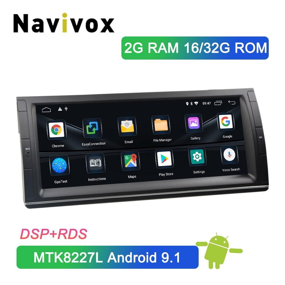 Navivox 10.25 ''Android 9.1 1Din lecteur DVD de voiture Radio GPS Navigation pour BMW X5 E53 1999-2006 dans Dash voiture stéréo DSP