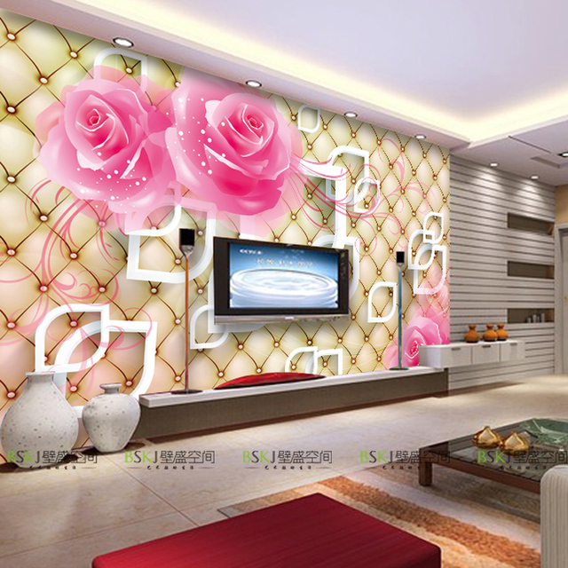 3d Large Scale Mural Wallpaper Stylish Stereo Tv Background Wallpaper Hall Bedroom Marriage