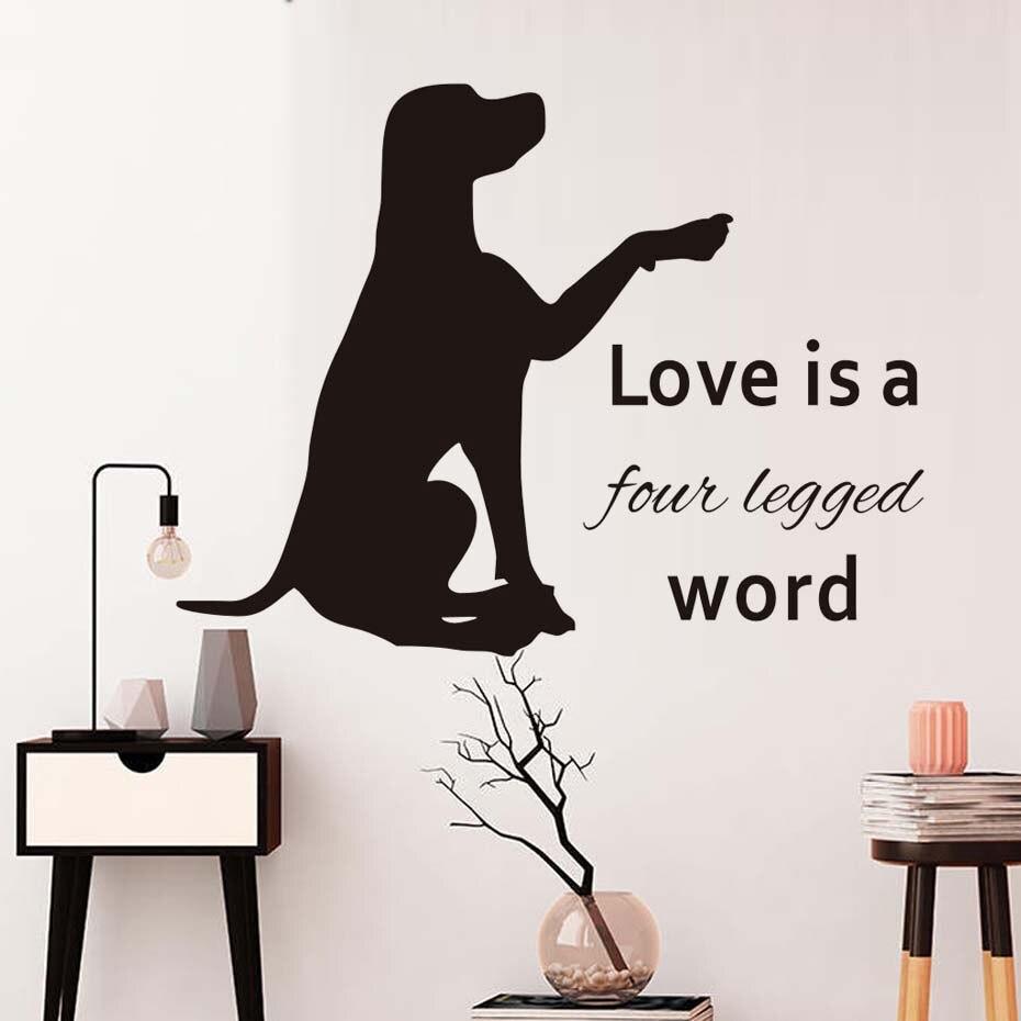Labrador Liebe Ist ein Angebot Vinyl Wandaufkleber Pet Shop Lösbaren ...