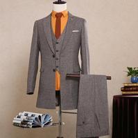 Marca de moda Para Hombre Trajes de Ropa Slim Fit Con Pantalones Del Otoño Del Resorte Juego de Los Hombres Últimas Escudo Pant Diseños de Boda Del Novio