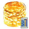 15m 300Leds Copper Wire LED String Lights Starry Lights Decoration Christmas Party 12V Adapter 24Key Remote