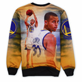 Men Casual Sweatshirts 3D Print  Stars Curry Novelty Pullover Hoodies