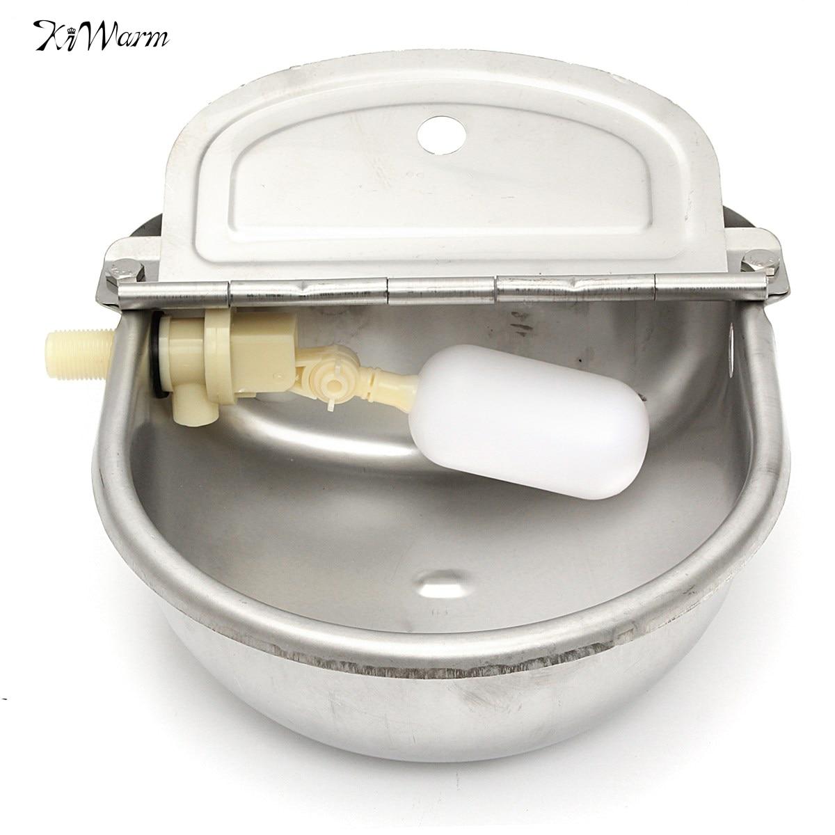2.5L Automático Tigela Animais de Fazenda Ferramenta Beber Copo de Líquido Através Da Água de Alimentação de Aço Inoxidável Auto Para Ovelhas Cão Frango Porco