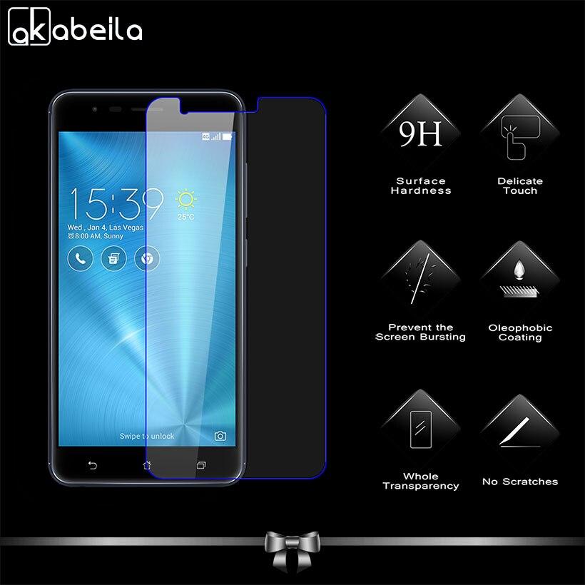 AKABEILA Premium Glass For ASUS Zenfone 3 Zoom ZE553KL Z01HDA Asus ZenFone Zoom S 5.5 inch Screen Protector Toughened Film