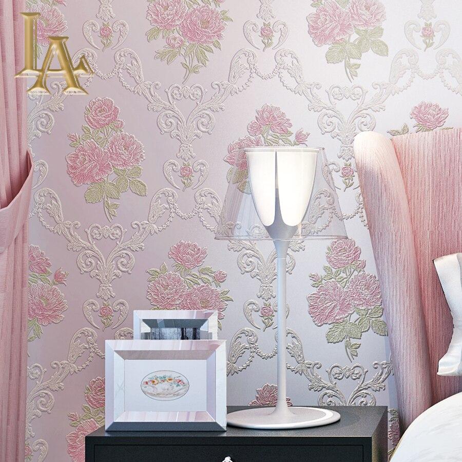 Natural Floral Wallpaper For Walls 3 D Rose Flower Design