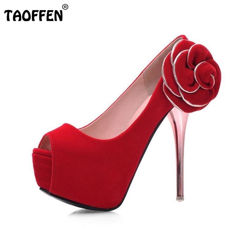 women peep open toe thin high heel shoes bridal wedding sexy female fashion heeled flower pumps heels shoes size 32-43 P16569