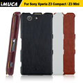 Para sony xperia z3 compact case sony z3 compact couro tampa articulada case capa para sony xperia z3 compact z3 mini d5803 m55w bags
