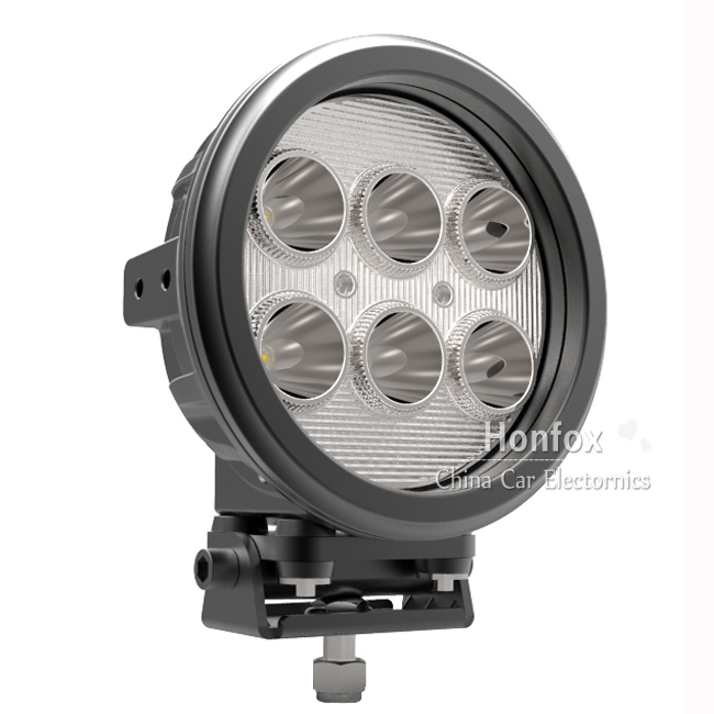 60W 7.0 inch  LED Working Driving Light Car Spot Truck Tractor SUV ATV Off road Lamp with 6*10w high intensity USA Cree LEDS dysc30 20w spot 20w 2000lm suv auto working light