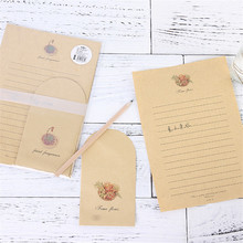2 сумки(6 конвертов+ 12 бумажных букв) Kawaii кактус конверт крафт-бумага для приглашений милые офисные канцелярские принадлежности 03249