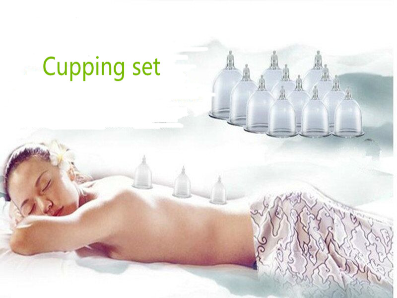 Free Shipping High Quality 12 Cups Medical Chinese Vacuum Body Cupping Massage Therapy Healthy Suction Set FE-25 hot sale chinese traditional medical 12 cups vacuum body pump suction cupping set healthy massage therapy kit m01017
