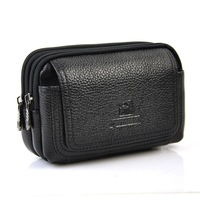 Men S Cowhide Genuine Leather Waist Bag Pouch Fanny Belt Hip Bum Male Cow Skin Designer
