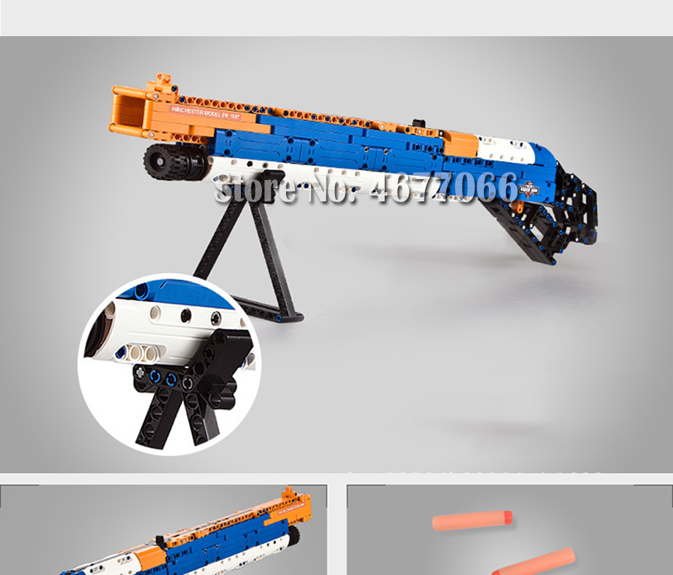 Legoed gun model building blocks p90 toy gun toy brick ak47 toy gun weapon legoed technic bricks lepin gun toys for boy 156