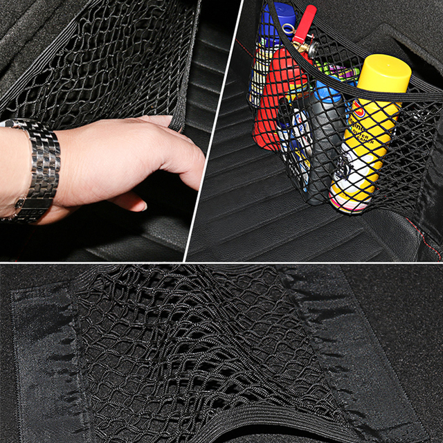 Car Trunk Mesh Net Organizer Stowing Tidying For Ford Audi BMW KIA Toyota Universal Storage Auto Accessories Goods Pocket Bag