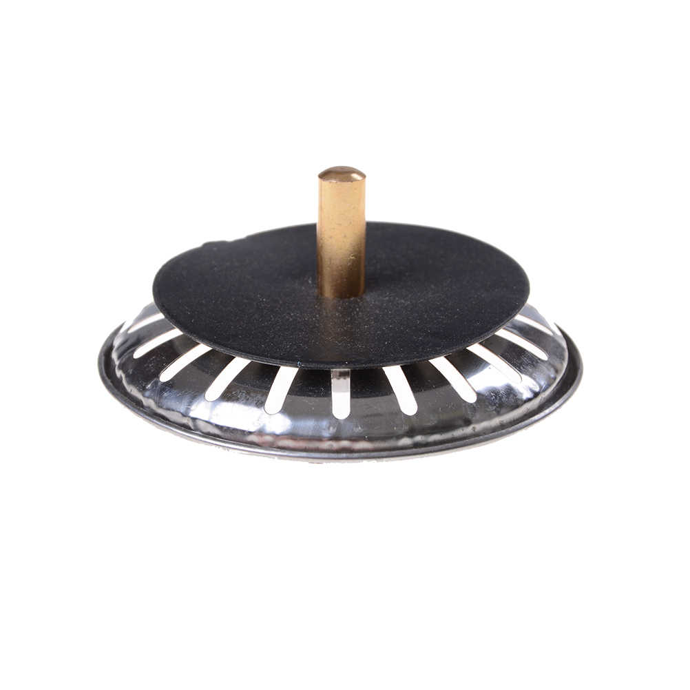 Zlinkj alta qualidade 1 pçs filtro de pia da cozinha rolha de aço inoxidável plugue resíduos pia pia do banheiro bacia dreno