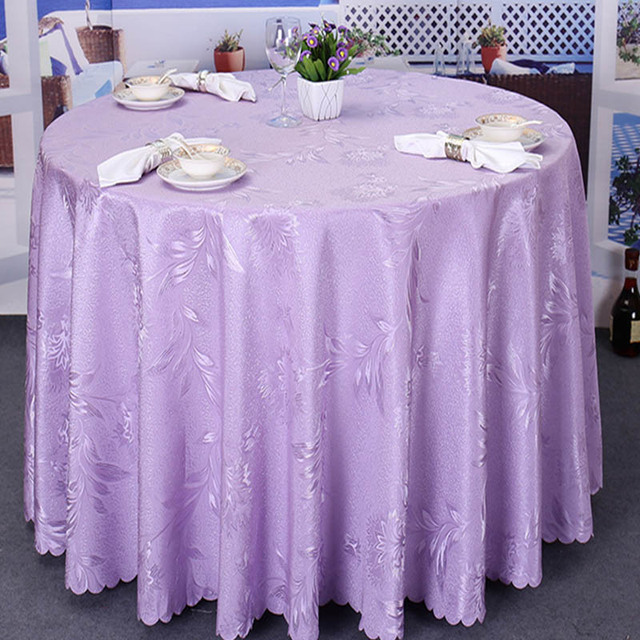 Balle Tablecloth Washable Polyester Round Tablecloths For Circular