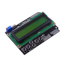 1PCS Teclado Escudo ATMEGA328 ATMEGA2560 LCD1602 1602 Display LCD para Raspberry Pi para Arduin UNO R3 Azul/Amarelo backlight(China)