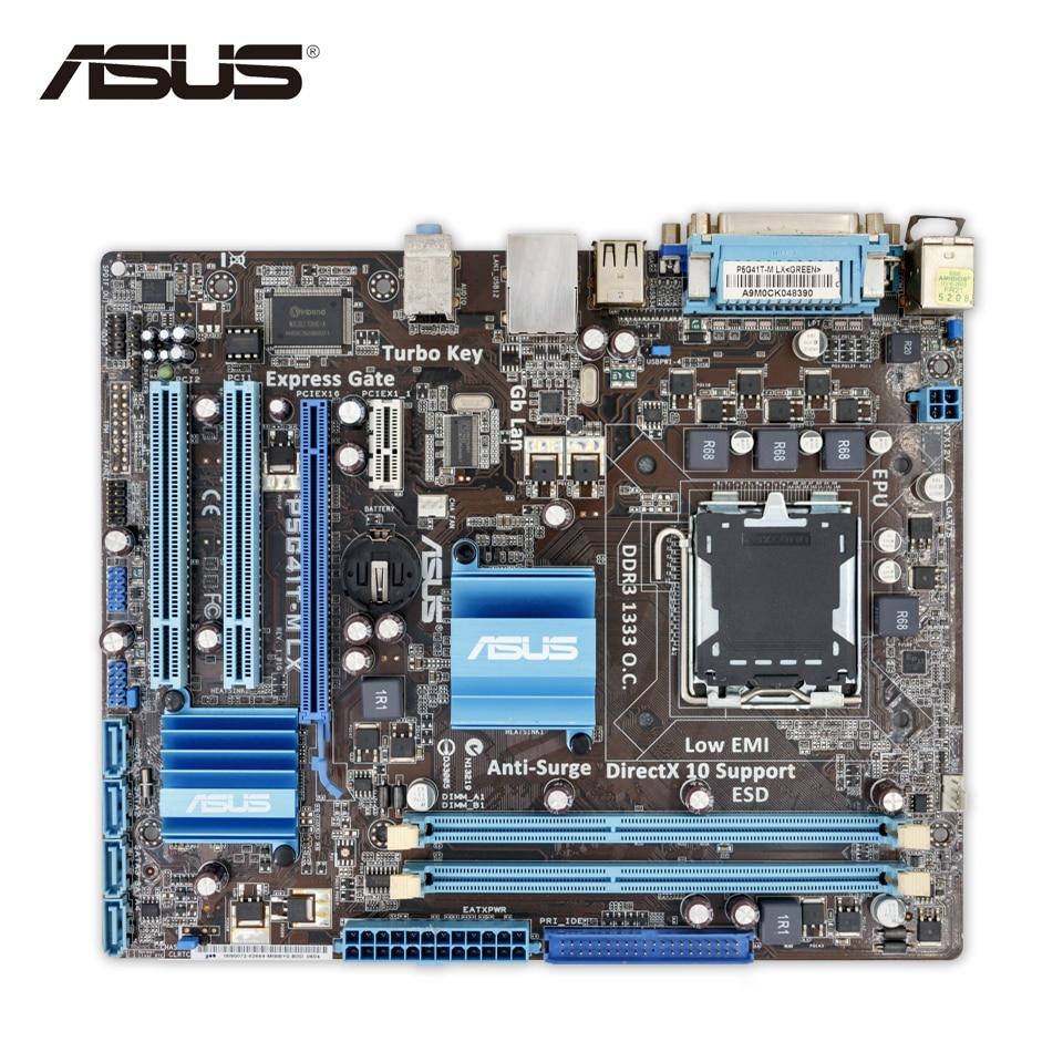 Asus P5G41T-M LX Original Used Desktop Motherboard G41 Socket LGA 775 DDR3 u-ATX On Sale asus p5kpl epu original used desktop motherboard p5kpl g31 socket lga 775 ddr2 atx on sale