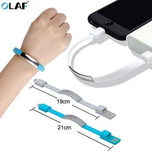Olaf Mini Micro USB Gelang Charger USB Tipe C Kabel Pengisian Data untuk iPhone X Max XR X 7 8 android USB Ponsel Charger Kabel(China)