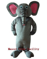 Grey Elephant Costume Pink Eye Elephant Mascot Costume