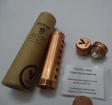 copper made 22mm diameter 18650 mechanical mod Hollow bone