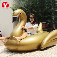 Giant Inflatable Pool Float for Adults Inflatable Swan Float for Pool Toys Gold Swan Pool Floating Inflatable Air Mattress