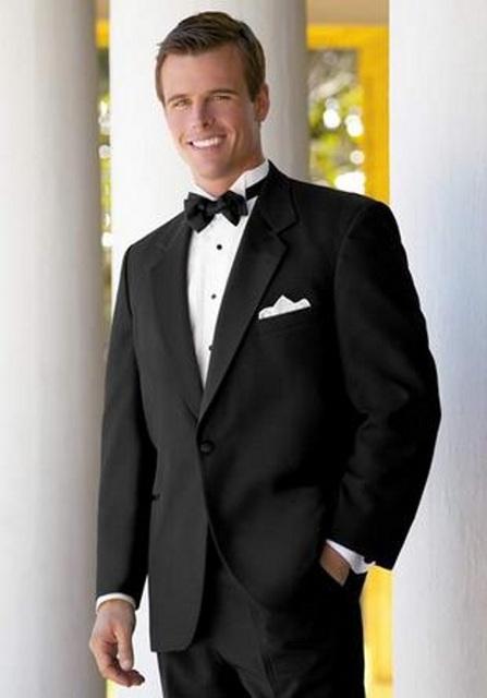 Estilo clásico Esmoquin Para Los Hombres Con Muesca Solapa Un Solo Botón Traje de Los Hombres Trajes Novio Wedding Prom (Jacket + Pants) ropa de hombre