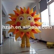 Перемещение Надувные Защита от солнца костюм модель для рекламы