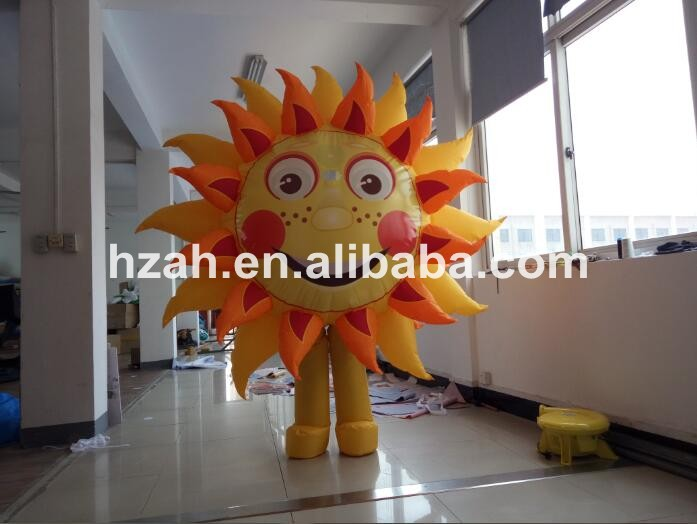 Moving Inflatable Sun Costume Model For Advertising
