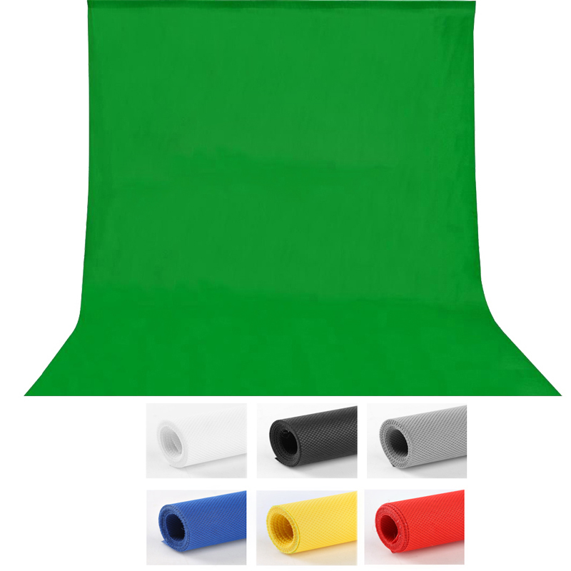 1.6X3m fotografia Photography studio Green Screen Chroma key Background Backdrop for Studio Photo lighting Non Woven 7colors(China)