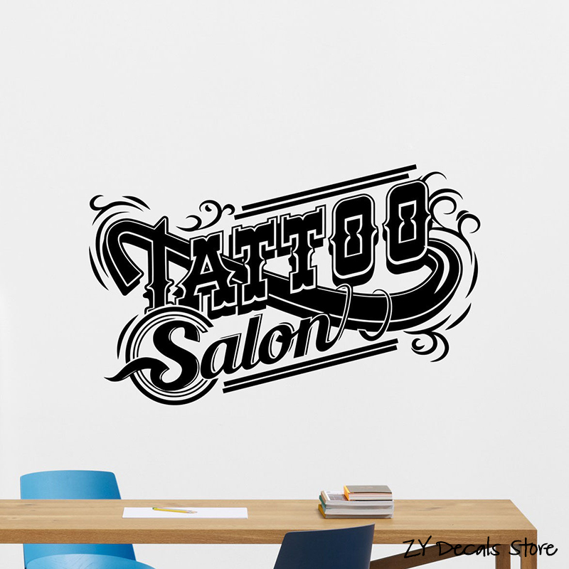 Tattoo Studio Wall Decal Machine Salon Poster Vinyl Sticker Decor Removable Art Mural Wallpaper For L502 In Stickers From Home