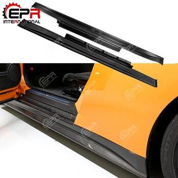 Car-styling For Nissan R35 GTR Zele Style Carbon Fiber Side Skirt GT-R Door Side Splitter Glossy Finish Racing Trim Drift Part