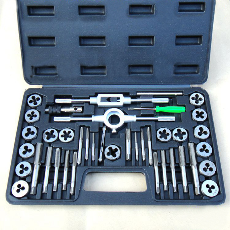 NEW 40PCS Tap & Die Set Wrench METRIC Screw Thread Taper Drill Tool KIT tap and die цена