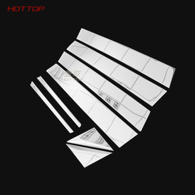 TopUnion Stainless Steel Center Pillar Window Trims Windows Middle Frame Car stickers for Toyota Toyota Crown car styling