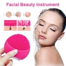 Электрическая силиконовая Очищающая щетка для лица sonic вибрационный массаж USB Smart Ultra sonic Skin Face Deep Cleaner Стиральная машина