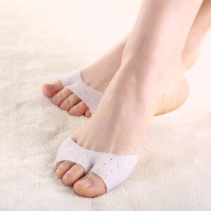 Image 1 - Housse de protection des pieds en Gel de Silicone à Pointe à gros orteils, 1 paire, tampons pour chaussures de Ballet et pédicure