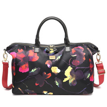 Waterroof Leather Holdall Women Gym Bags Outdoor Sports Handbags Printing Shoulder Bag for Juorney Women s