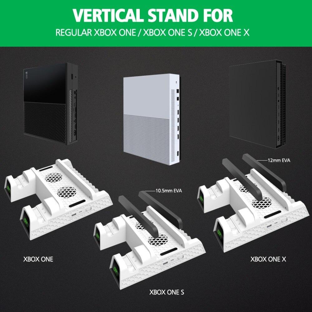 Cargador de controlador Dual OIVO para Xbox ONE soporte Vertical de refrigeración para juegos estación de carga de almacenamiento para consola Xbox ONE/S/X - 2
