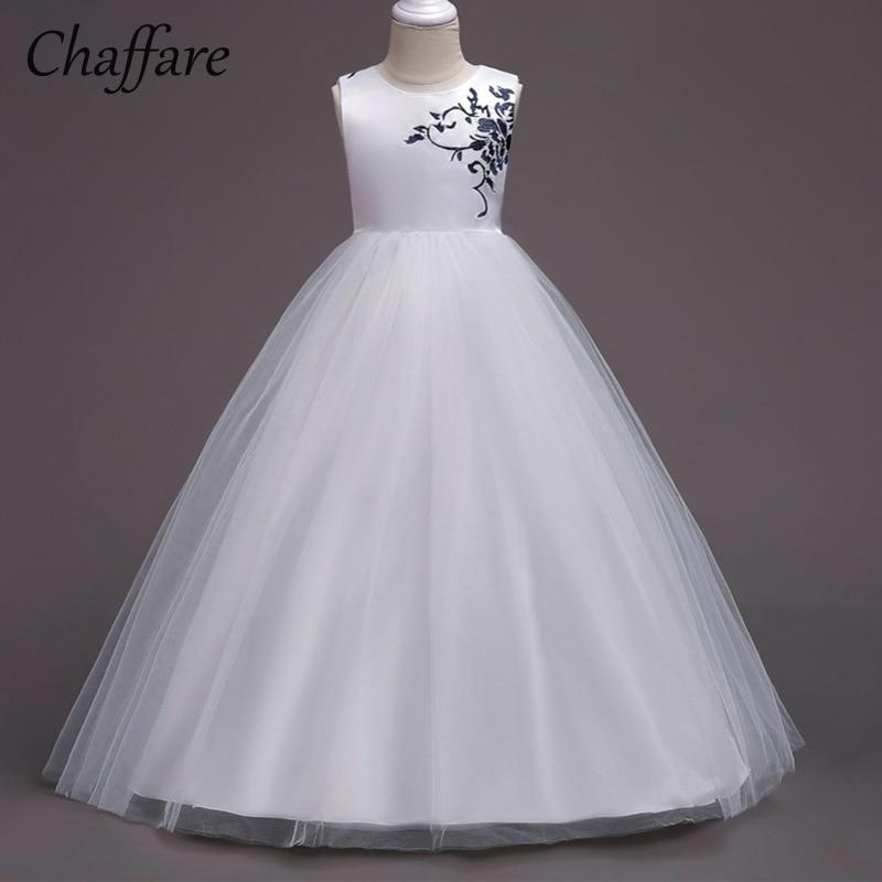 be617dfbd280aa Chaffare meisjes lange jurken formele bruiloft feestjurk Kinderen ...