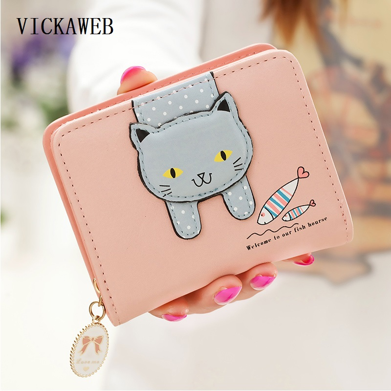 Womens Wallets And Purses Short Fashion Small Women Purse Zipper PU Leather Wallet Women Anime Wallet Womens Wallets And Purses